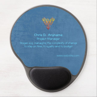 Project Support Officer, phoenix, leather-effect Gel Mouse Pad