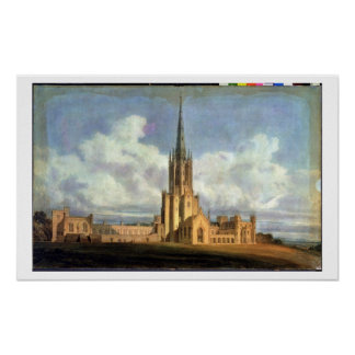 Projected Design for Fonthill Abbey, Wiltshire, 17 Poster