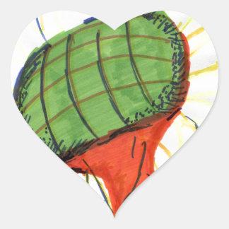 Projected Sunflower Heart Sticker