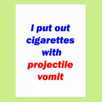 Projectile Vomit 2 Postcard