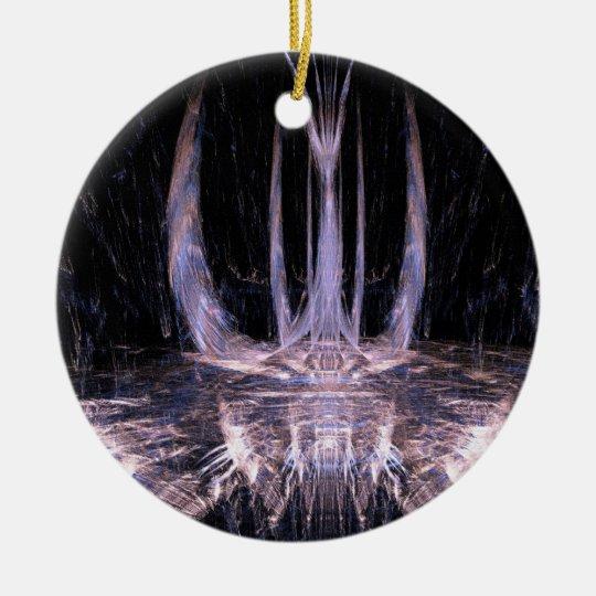 Projection Image Ceramic Ornament