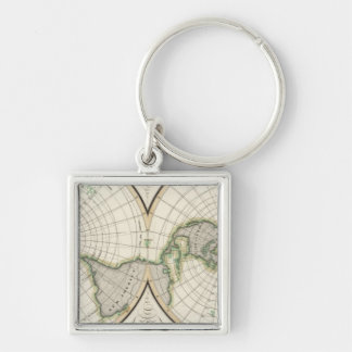 projection showing magnetic declination keychain