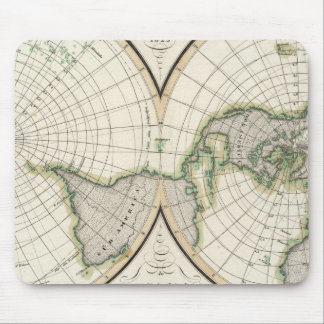 projection showing magnetic declination mouse pad