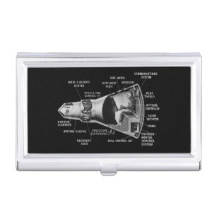 Space business card holders cases zazzle projecy mercury cutaway business card case colourmoves