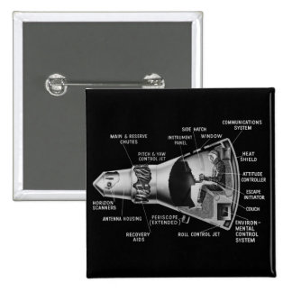 Projecy Mercury Cutaway Pinback Button