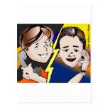 Projeto ilustra cap2 telefonema copy desenho a mão cartao postal