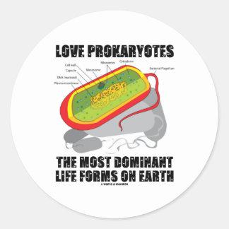 Prokaryotes del amor la mayoría de las formas de pegatina redonda