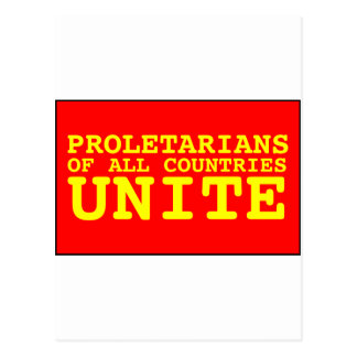 proletarians of all countries unite postcard