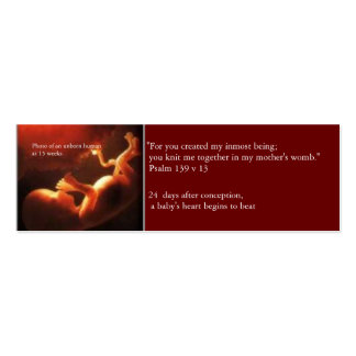 Prolife Card Double-Sided Mini Business Cards (Pack Of 20)