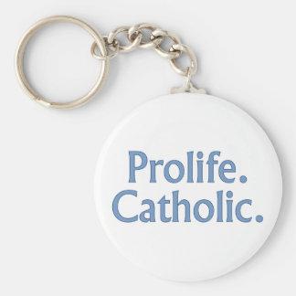 Prolife Católico Llavero