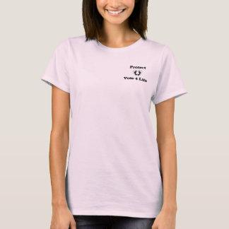 PROLIFE Pray & Vote to protect woman tshirt