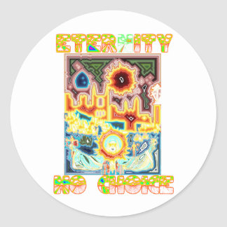 Prolife Virgin Mary Testimony Classic Round Sticker