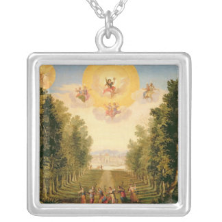 Prologue: The delightful woodland island Silver Plated Necklace