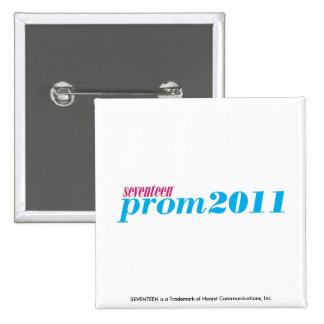 Prom 2011 - Aqua Pinback Button