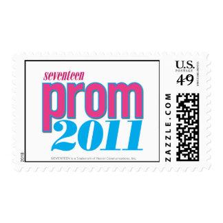 Prom 2011 - Aqua Postage Stamp