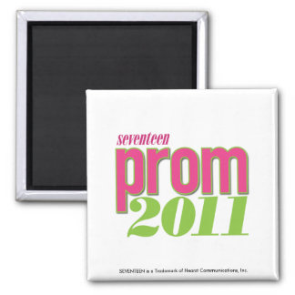 Prom 2011 - Green 2 Inch Square Magnet