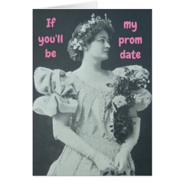 PROM DATE FORMAL DANCE BALL INVITATION VICTORIAN