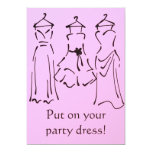 Prom Dresses Design customizable pink Card