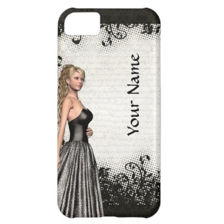 Prom girl in a black dress case for iPhone 5C