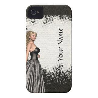 Prom girl in a black dress Case-Mate iPhone 4 case