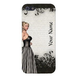Prom girl in a black dress cover for iPhone SE/5/5s