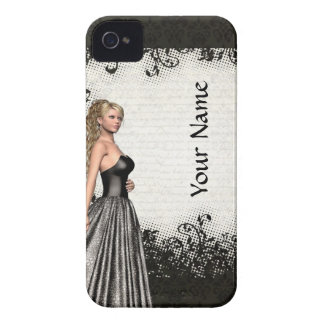 Prom girl in a black dress iPhone 4 cover