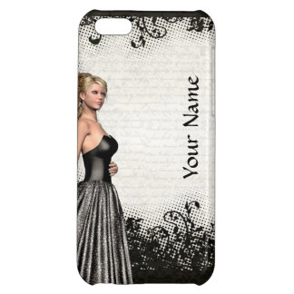 Prom girl in a black dress iPhone 5C cover