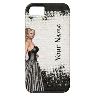 Prom girl in a black dress iPhone SE/5/5s case