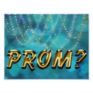 Prom Idea - Promposal Faux Gold Twinkle Lights Poster
