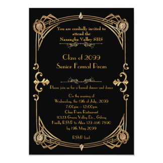 Prom invitation anybody,Gatsby style,glitter gold