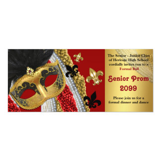 Prom Invitation Ticket style,Masquerade,chic,trend