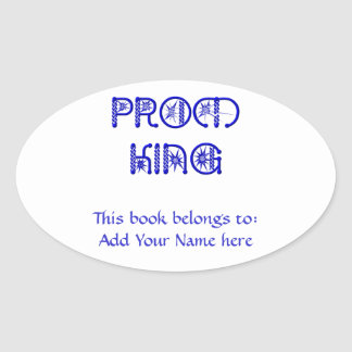 Prom King Oval Sticker