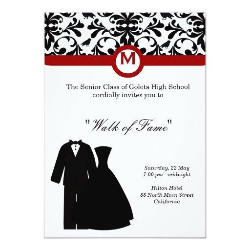 Prom Night 5x7 Paper Invitation Card