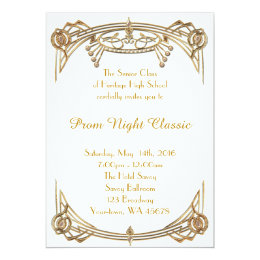 Assembly invitations announcements zazzle prom night classic card stopboris Image collections