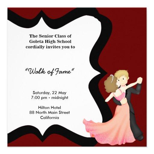 Prom night dance 5 25x5 25 square paper invitation card zazzle