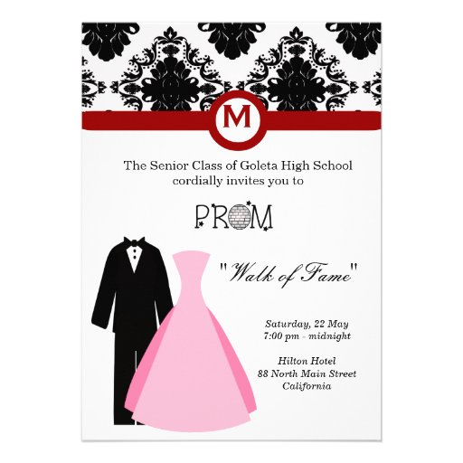 Personalized High School Prom Invitations Custominvitations4u Com