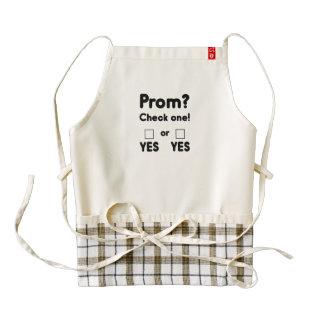 Prom night? zazzle HEART apron