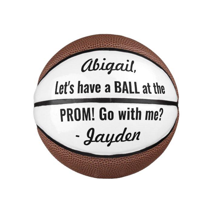 Prom Or Hoco Proposal Cute Funny Promposal Idea Mini Basketball Zazzle Com