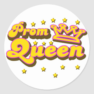 Prom Queen Classic Round Sticker