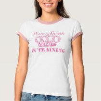 Prom Queen In Training Ladies Melange Ringer Tee
