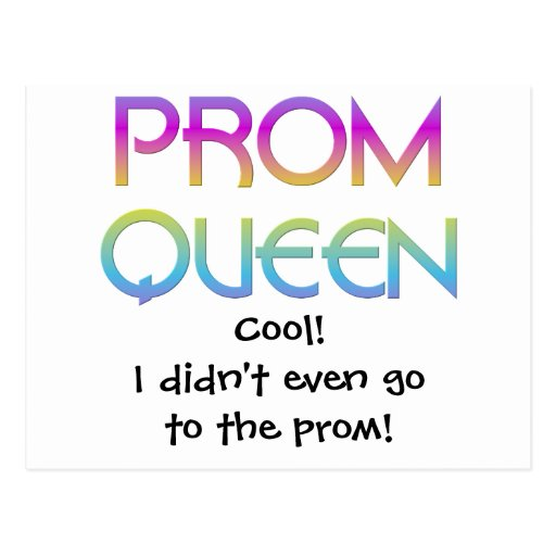 Prom Queen Postcard
