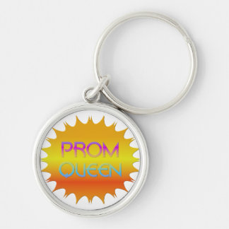 Prom Queen Silver-Colored Round Keychain