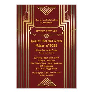 Prom senior junior, Gatsby style, art-deco,elegant Card