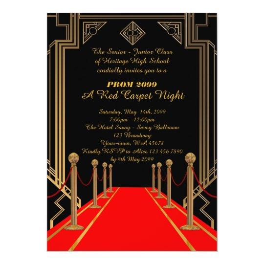 Prom senior junior gatsby style red carpet night card zazzle prom senior junior gatsby style red carpet night card stopboris Choice Image
