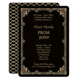 Prom Senior-Junior, Great Gatsby, Gold, Black Card