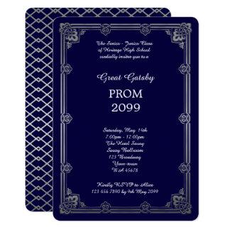 Prom Senior-Junior, Great Gatsby, Silver, Navy Card