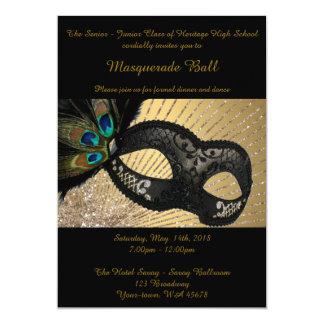 Prom Senior-Junior, masquerade ball, peacock mask Card