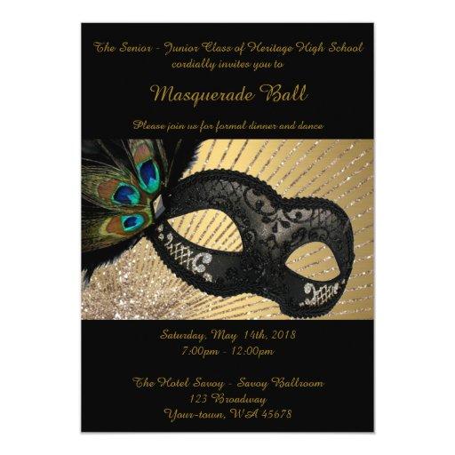 Prom Senior-Junior, masquerade ball, peacock mask Card ...
