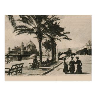 """""""promenade"""" agradable por la postal 1908 de la"""