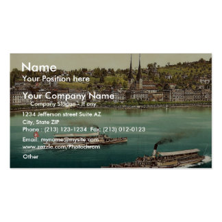 Promenade and cathedral, with two small steamers, Double-Sided standard business cards (Pack of 100)